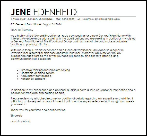 example of cover letter for receptionist job