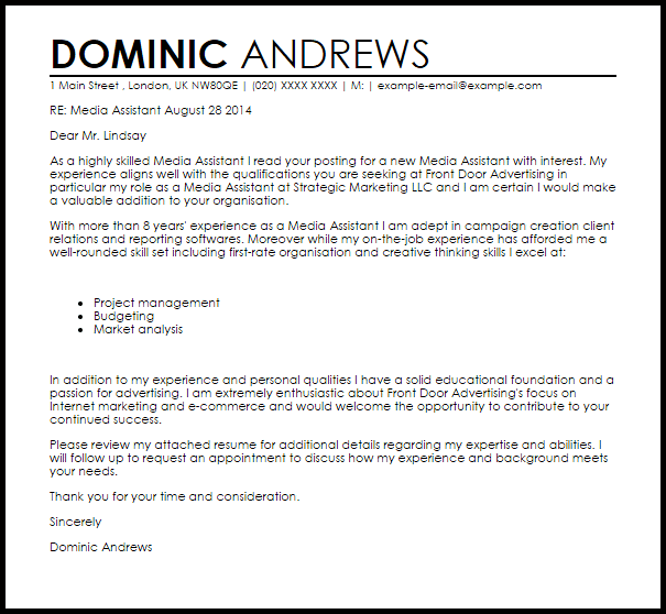 resume cover letter for teaching assistant