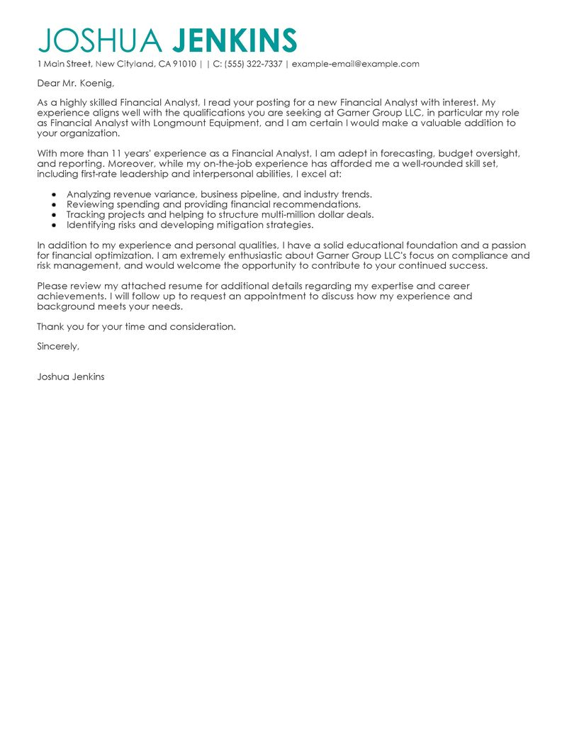 Cover Letter Examples Finance Financial Outline For A Essay Swami