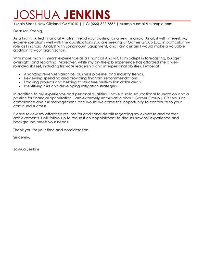 Cover Letter Examples For Marketing Analyst | Process Analyst Jobs ...