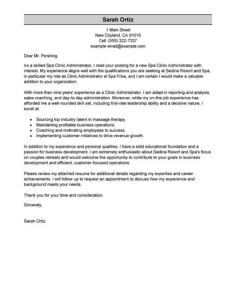 esthetician cover letter