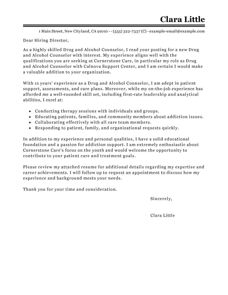 school counselor cover letter cover letter example career ...