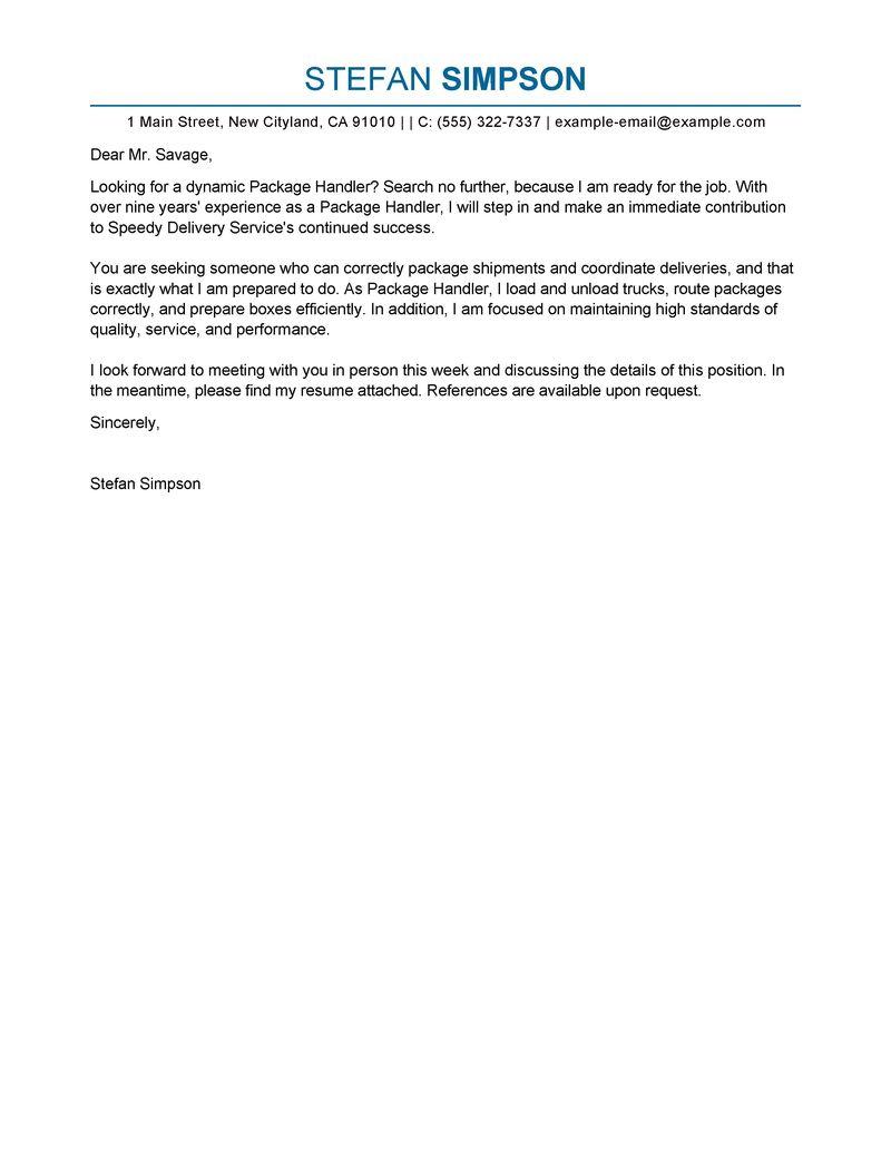 Cover Letter For Hotel Driver | Job Application Letter ...