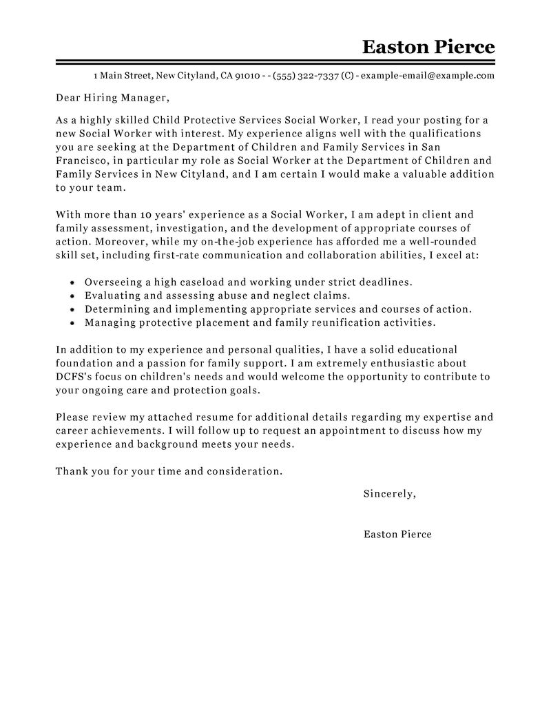 Medical Social Worker Cover Letter Gallery - Cover Letter Ideas