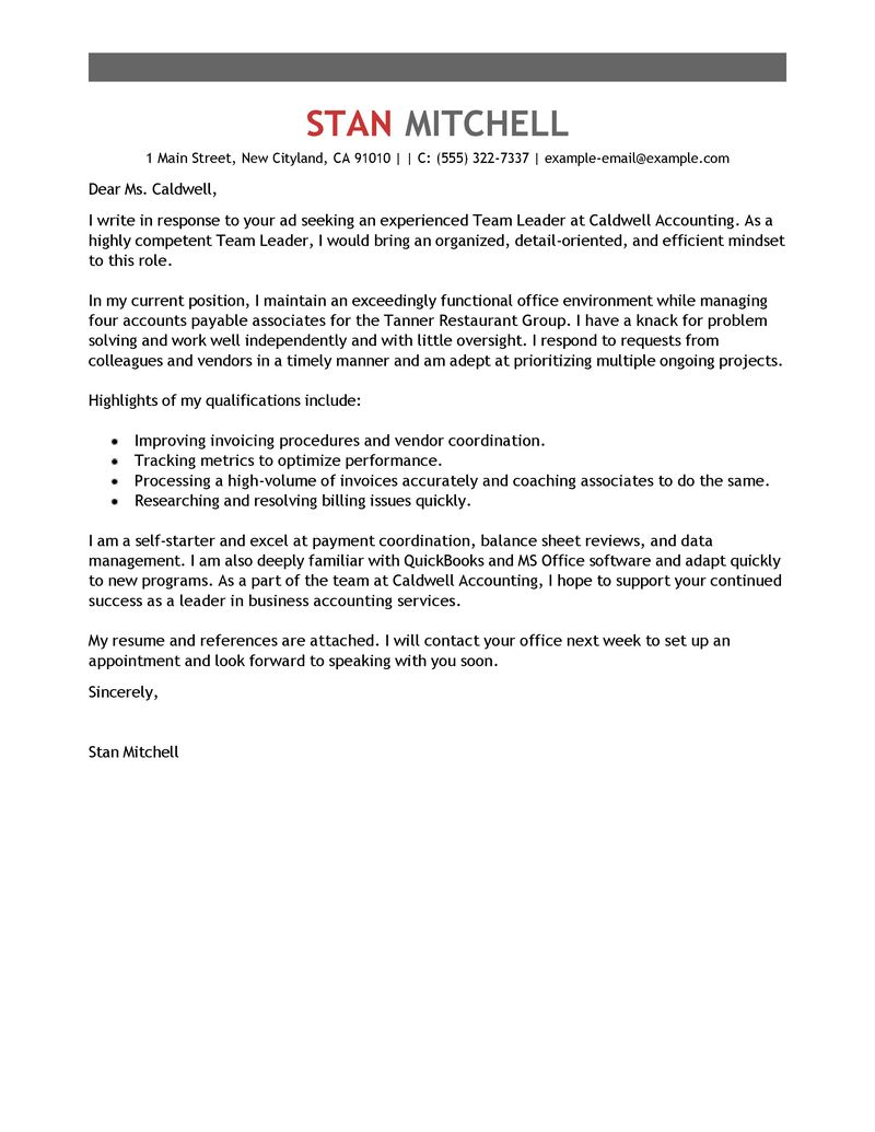 Free Resume Guide 2017 With Amazing Tips And Examples Team Lead Cover Letter Examples Management Cover Letter