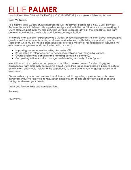 Resume Cover Letter Example Hospitality   Professional Resume CV Maker