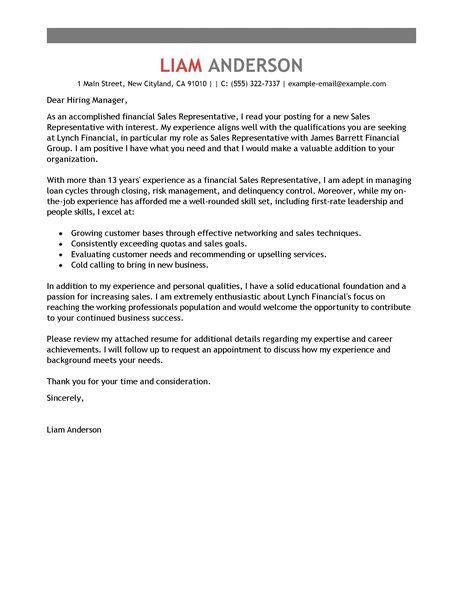 Cover letter for sales representative application *** wwwuniimmihk