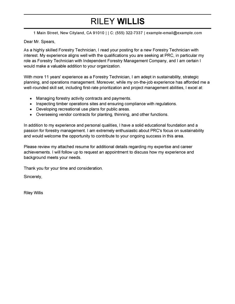 best agriculture u0026 environment cover letter samples