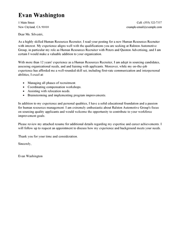 University Of Chicago Cover Letter Samples Best Recruiting And Employment Cover Letter Examples