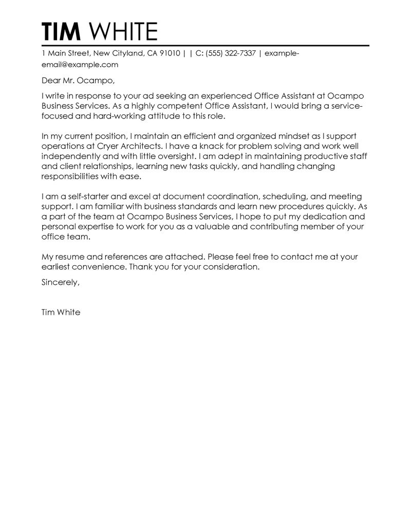 game design cover letter examples