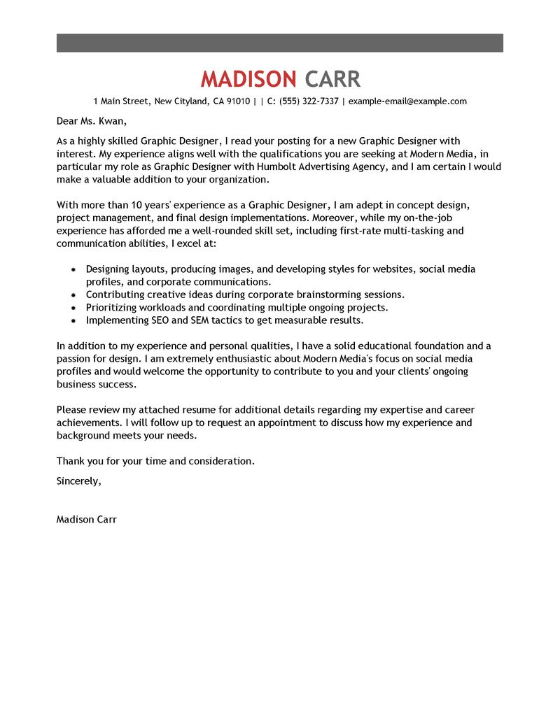 Students Bold Google Careers Free Cover Letter Examples For Every Job Search Livecareer
