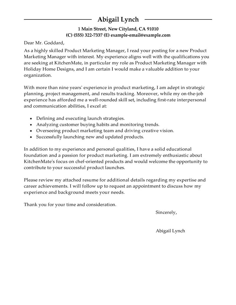 Pharmaceutical Sale Cover Letter Example Supply Chain Cover Letter