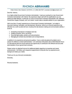 cover letter government job - Cover Letter For Government Job