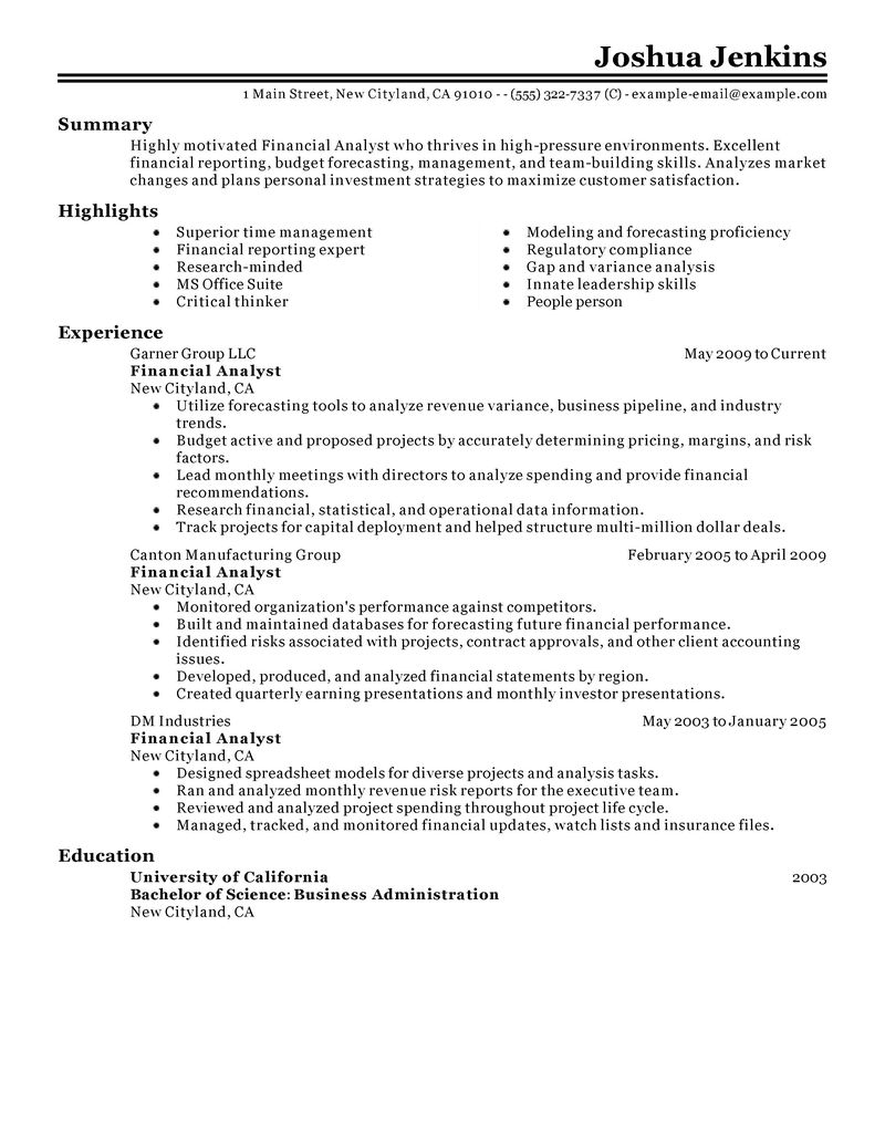 Transferable Skills For Resume Monster Best Analyst Resume Example Livecareer