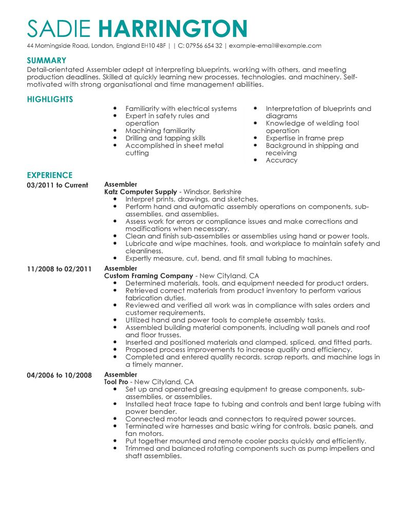 resume building operator sample customer service resume resume building operator resume builder o resumebaking assembler resume examples production resume samples livecareer