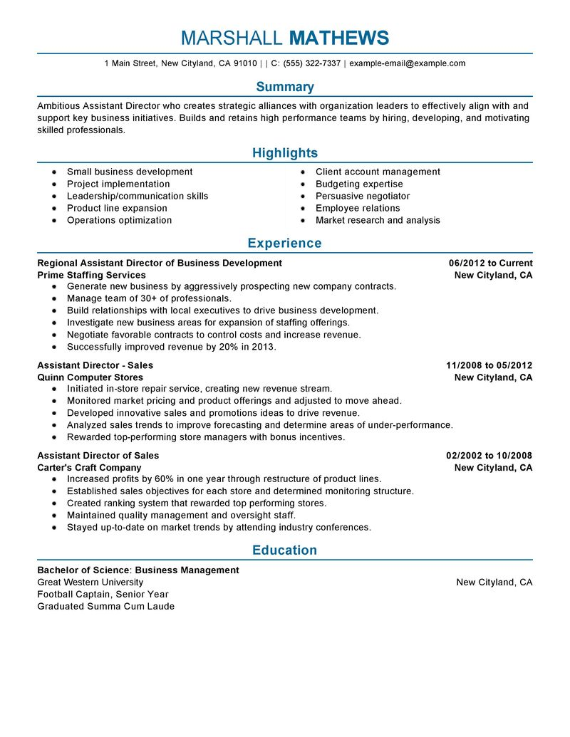 Chief Financial Officer Resume Sample Vp Finance Best Management Assistant Director Resume Example Livecareer