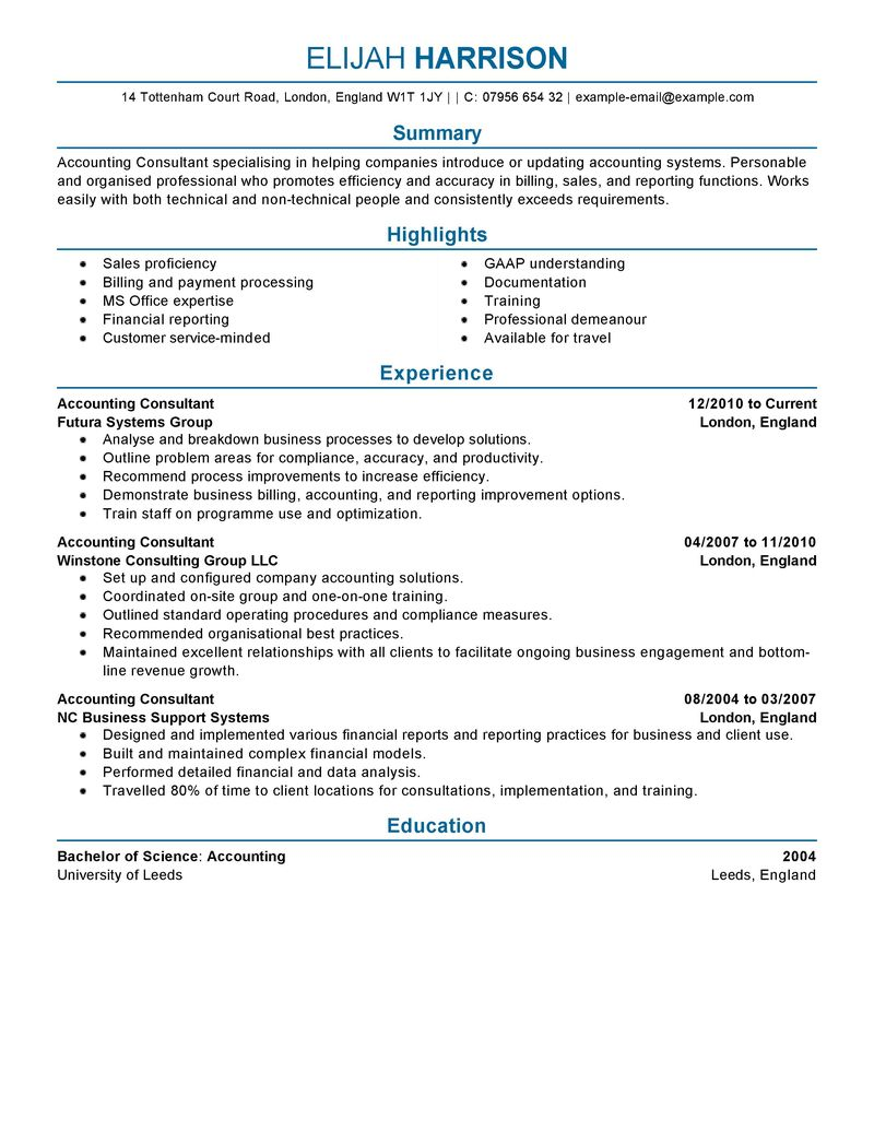 career live resume live career my perfect resume examples of ...