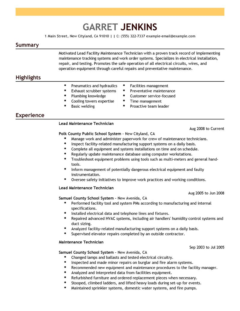 maintenance manager resumes samples sample customer service resume maintenance manager resumes samples amazing resume creator manager resume daycoresume resume templates hotel maintenance manager
