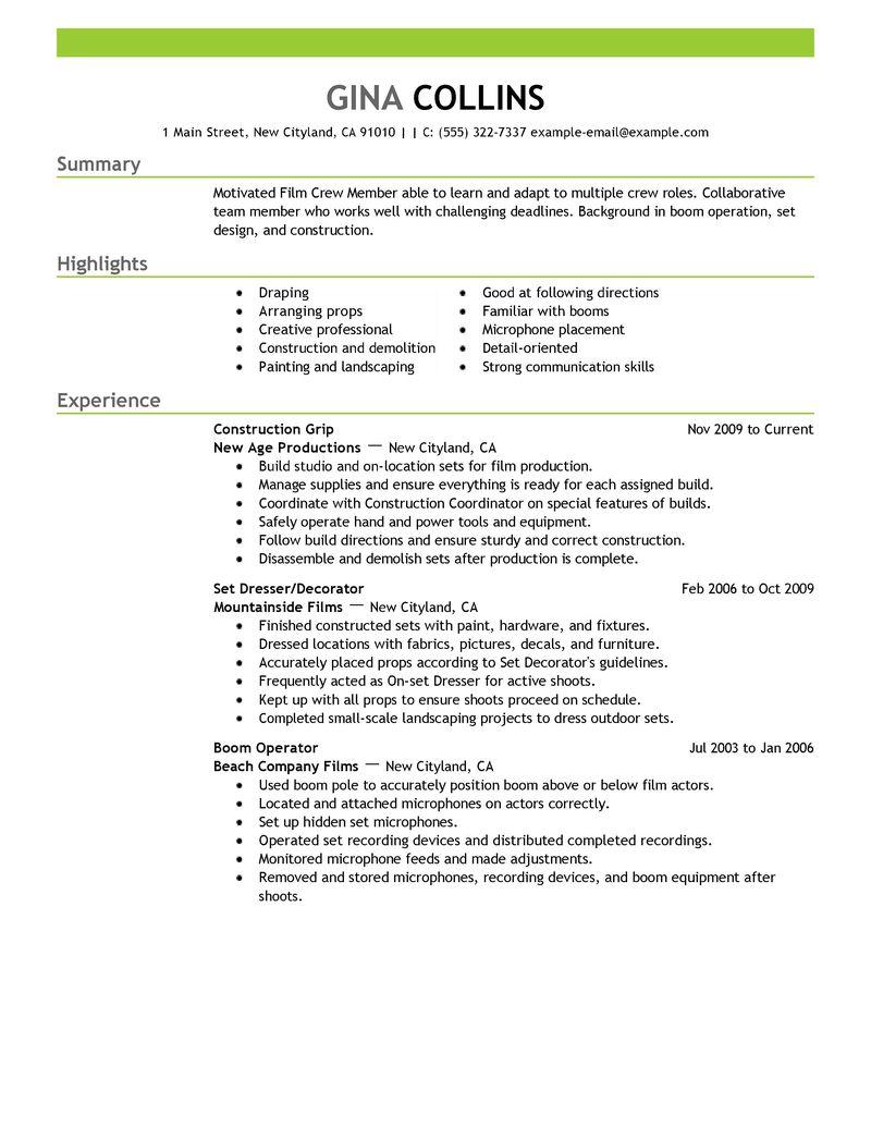 Film Editor Resume  Film Editor Resume