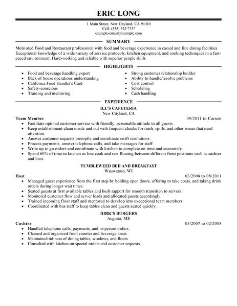 Bar Resume Examples - nmdnconference - Example Resume And Cover