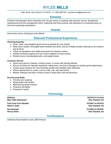 cleaning job resume samples - Selol-ink