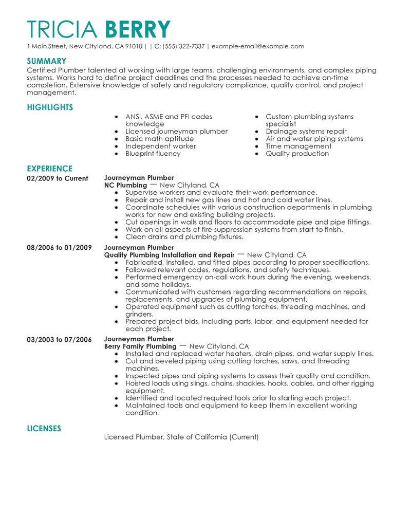 Sample Of General Laborer Resume Example Resumes Journeymen Plumbers Resume Examples Construction Resume