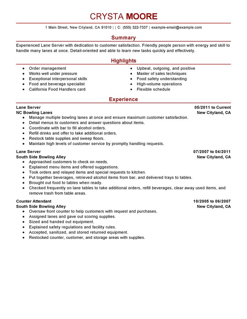 examples of bartender resume sample customer service resume examples of bartender resume resume examples and tips snagajob lane server resume examples media and entertainment