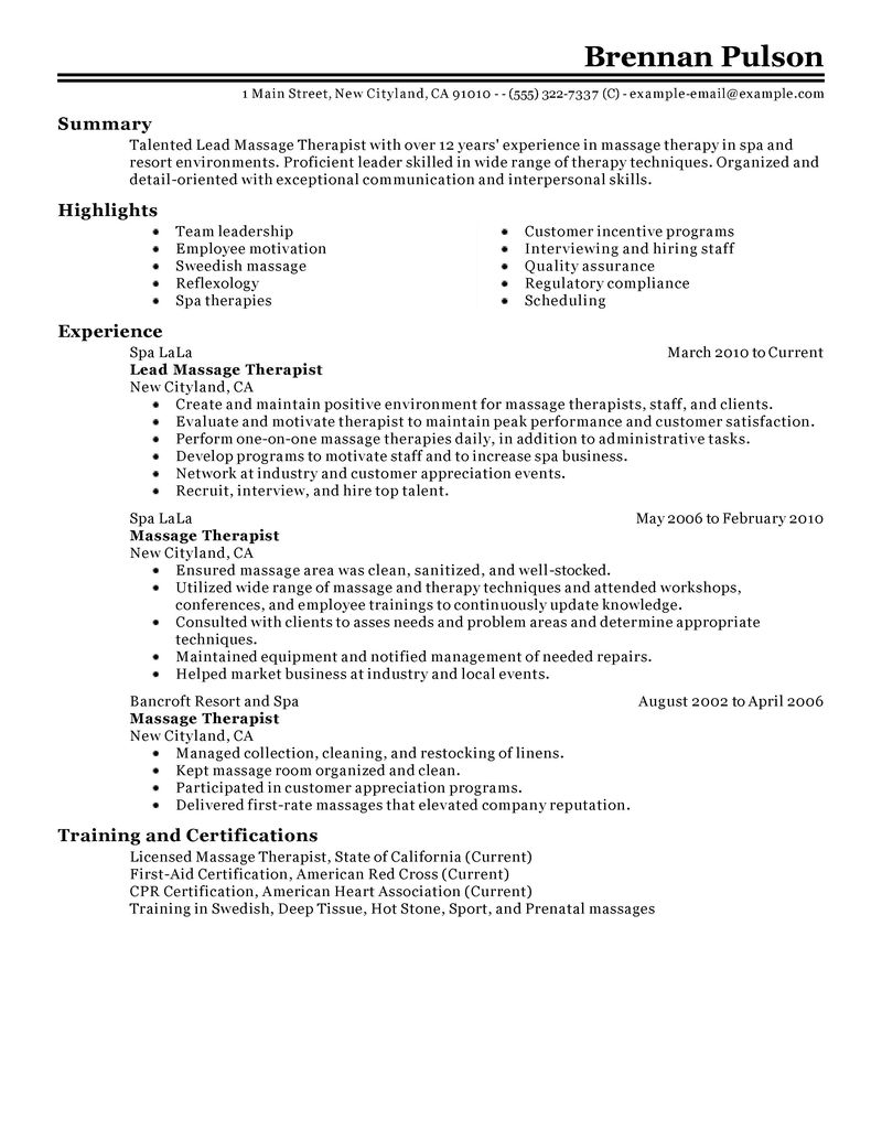 resume templates massage therapist resume templates resume templates massage therapist my perfect resume templates yourmomhatesthis lead massage therapist resume examples salon
