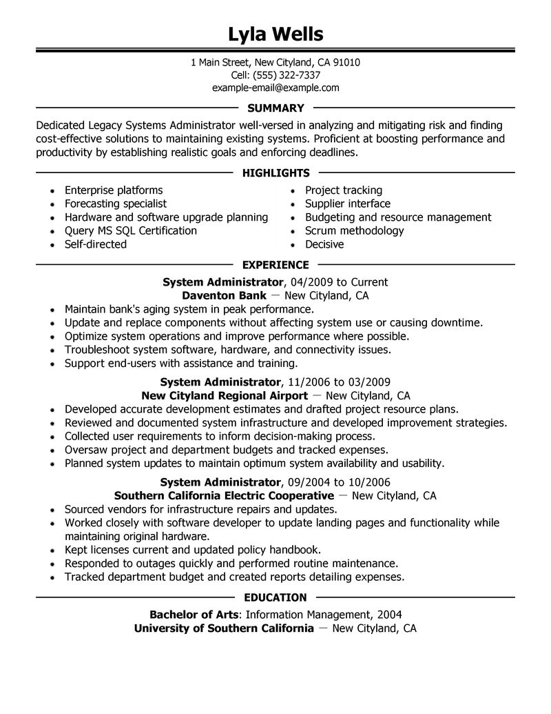 resume review guide free resume builder resume builder resume genius systems administrator resume examples it resume