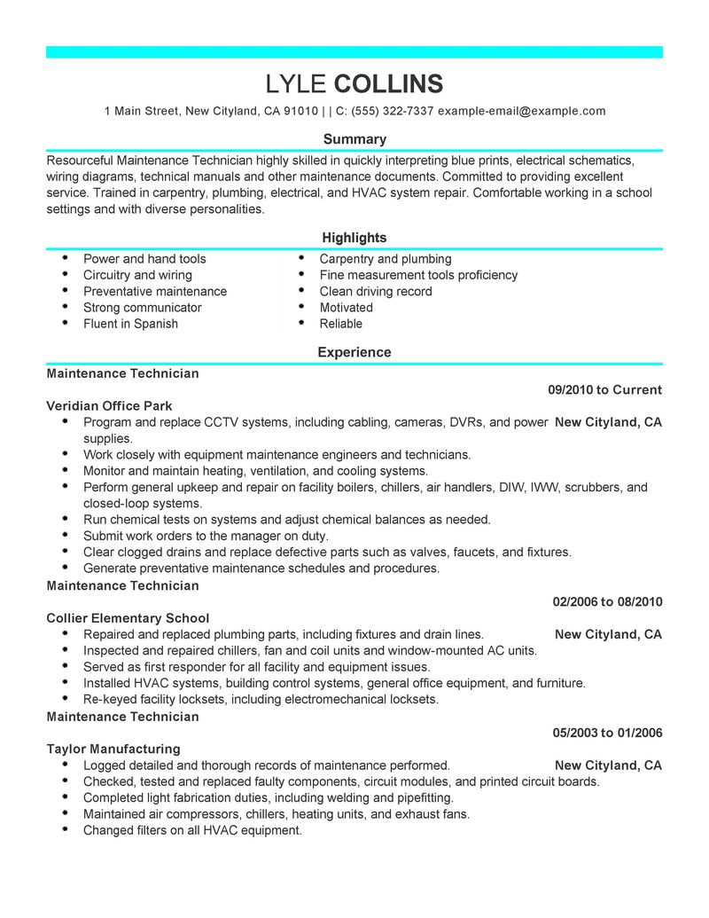 tech company resume modern