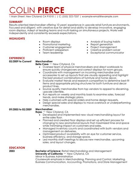 Functional Resume Example Sample Best Merchandiser Retail Representative Part Time Resume