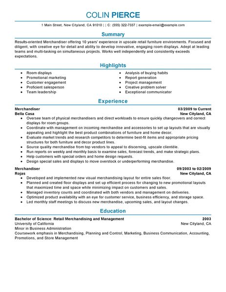 Customer Service And Retail Resume Samples The Balance Best Merchandiser Retail Representative Part Time Resume