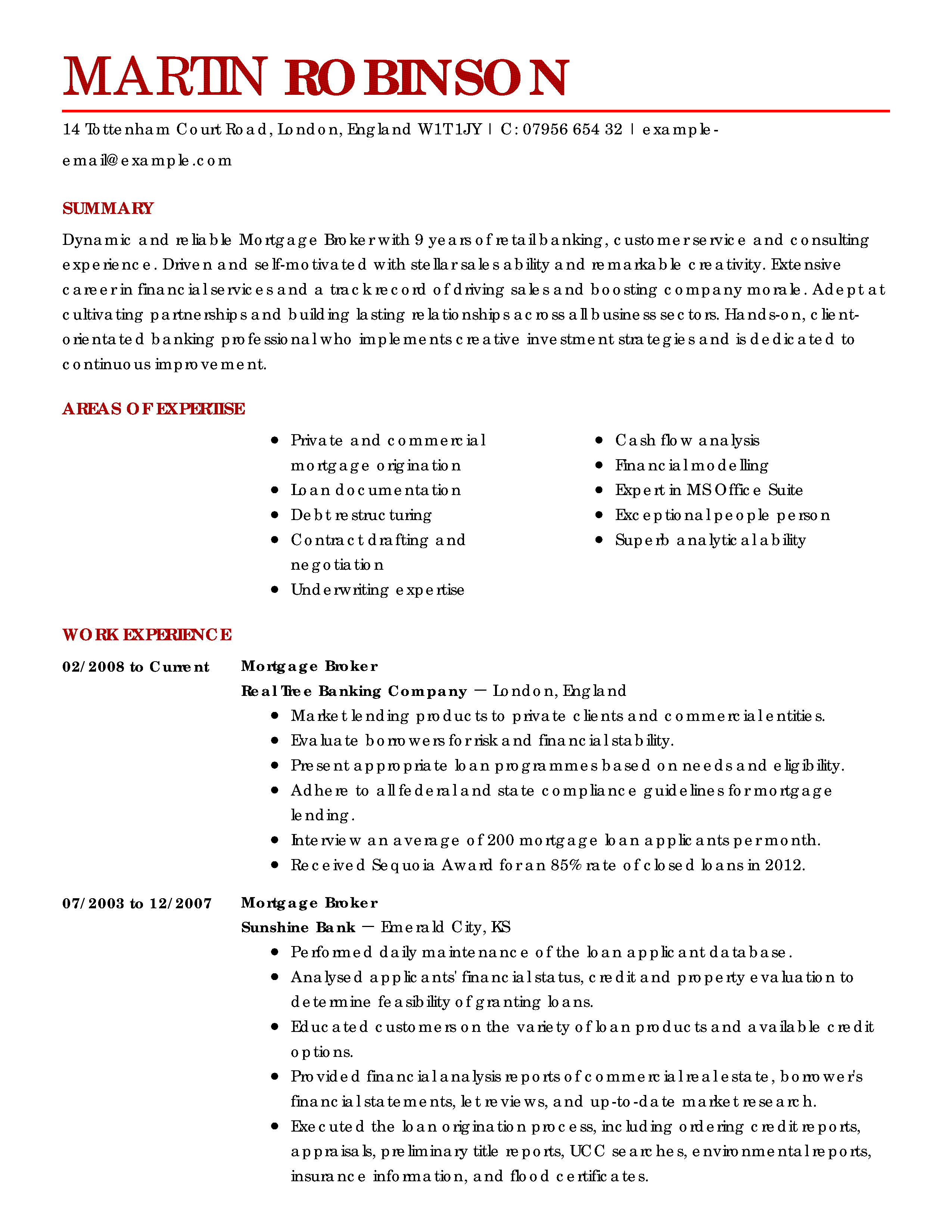 real estate resume template word