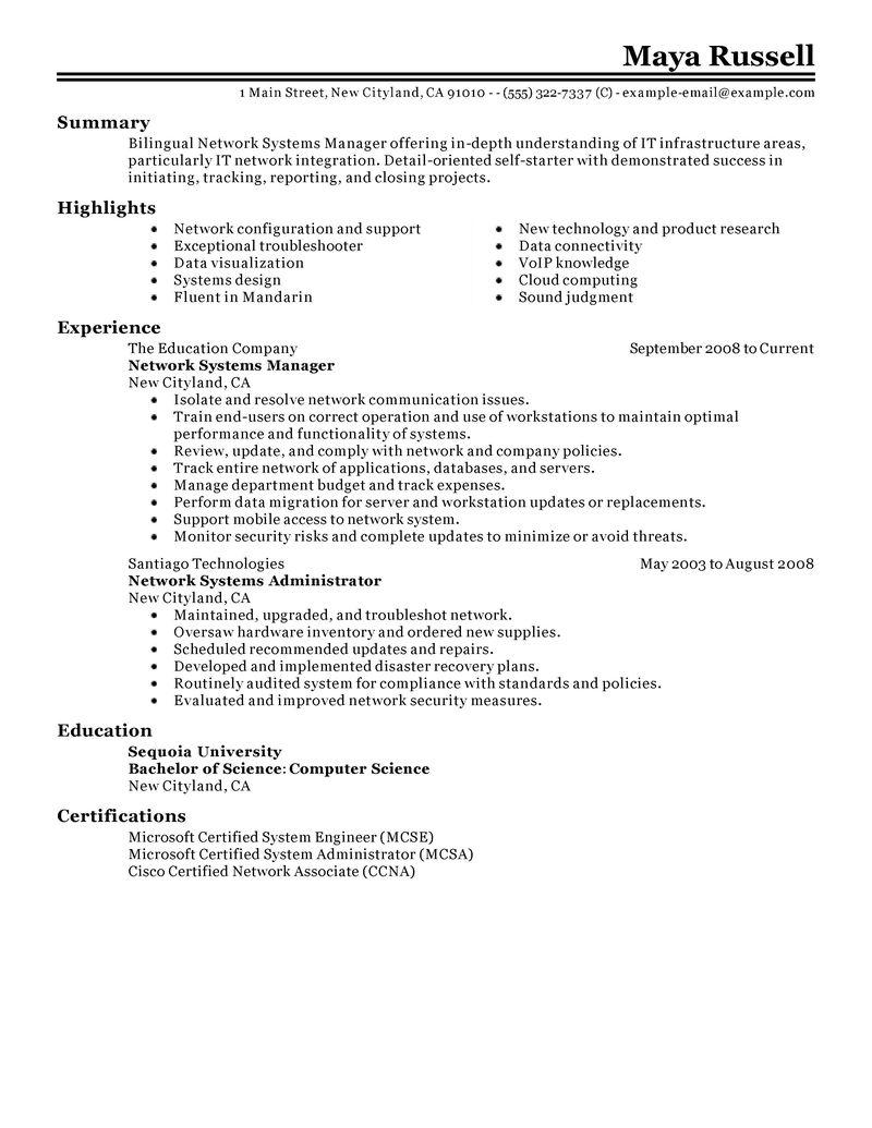 cisco system engineer sample resume cisco system engineer sample resume - Cisco System Engineer Sample Resume