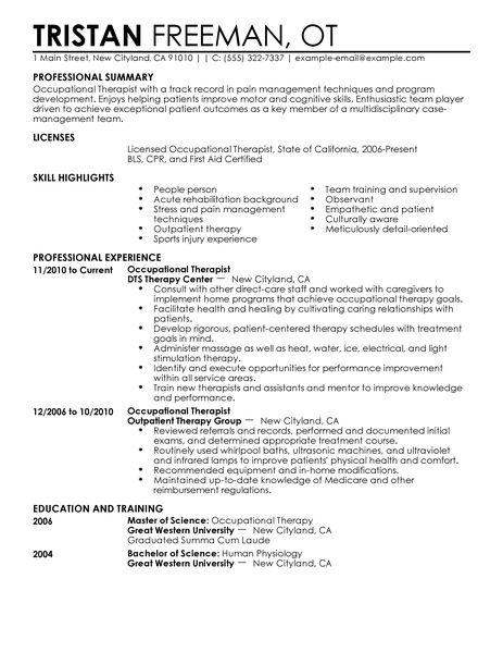 graduate school essay occupational therapy