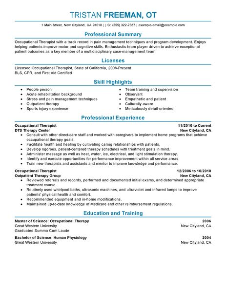 Physical Therapist Resume Template Physical Therapist Resume - physical therapist resume