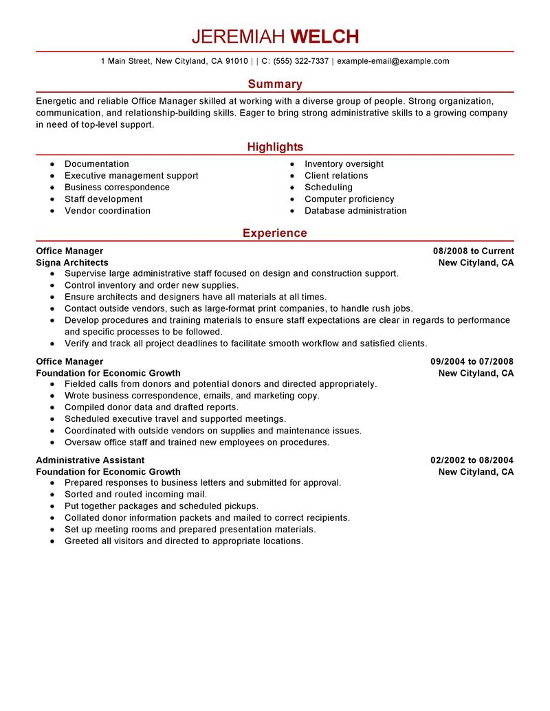Office manager medical office sample resume – Medical Administrative Assistant Job Description