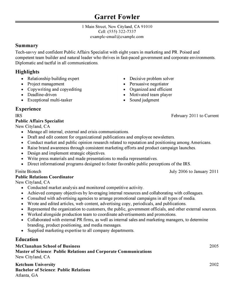 Pr Resumes Public Relations Manager Resume Example You Can See SBP College  Consulting