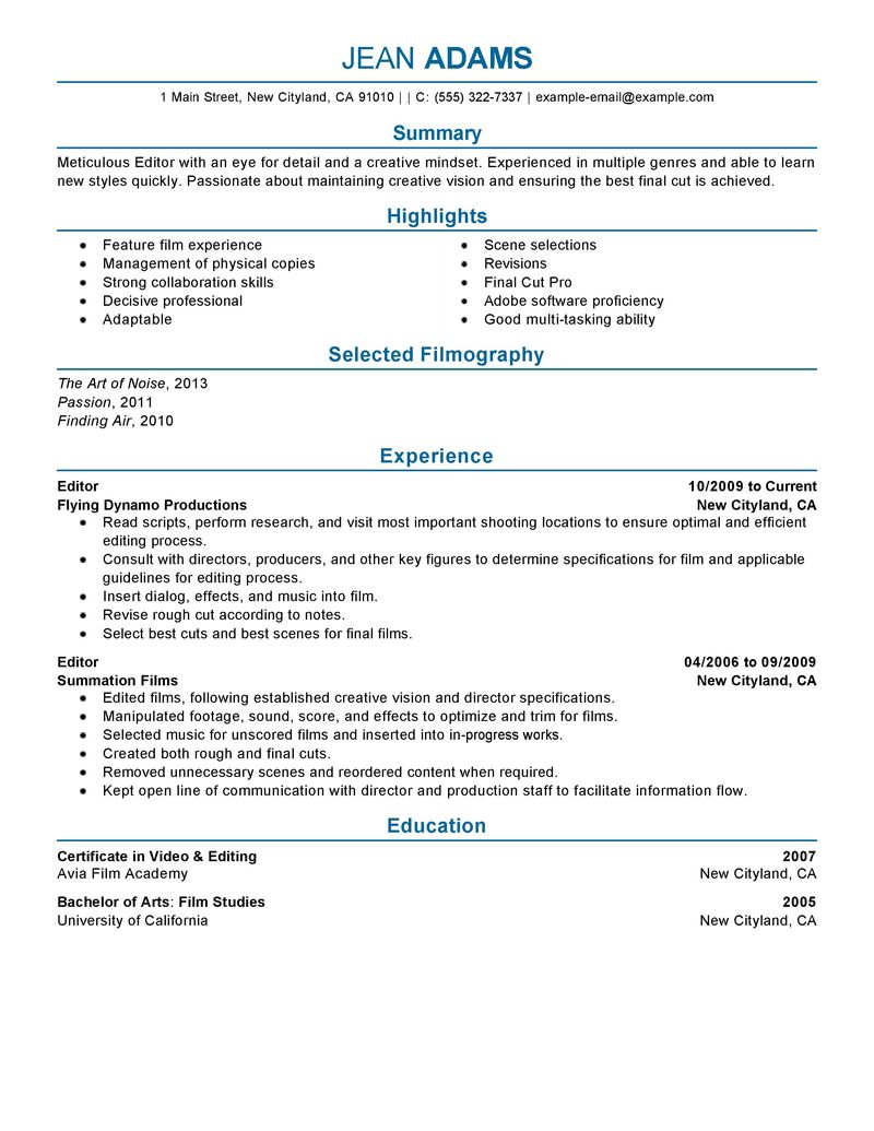 resume examples for a supervisor sample customer service resume resume examples for a supervisor resume examples resume examples media and entertainment resume samples livecareer