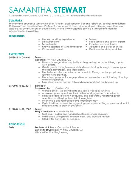 resume profile examples for law enforcement sample common app - restaurant resume