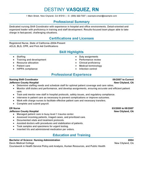 Seven Generations Education Institute Shift Coordinator Resume Examples Healthcare Resume