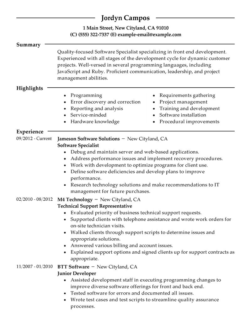 livecareer resume review