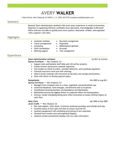 Administrative Assistant Resume Examples - Examples of Resumes