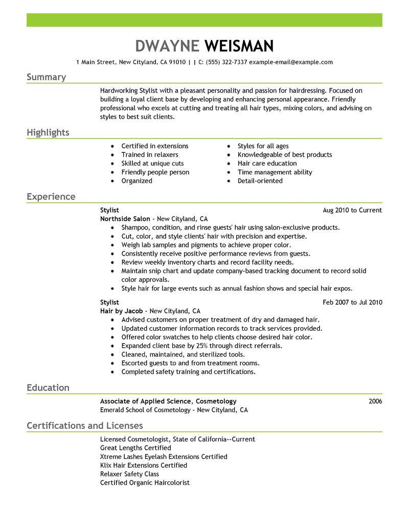 cosmetology instructor cover letter