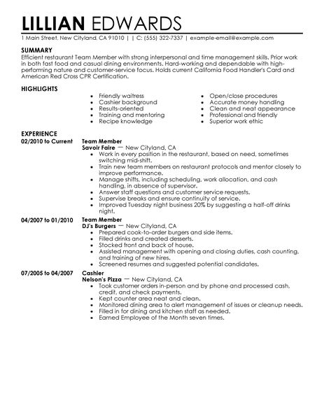 resume job description fast food big team member example contemporary 1 design images frompo. Resume Example. Resume CV Cover Letter