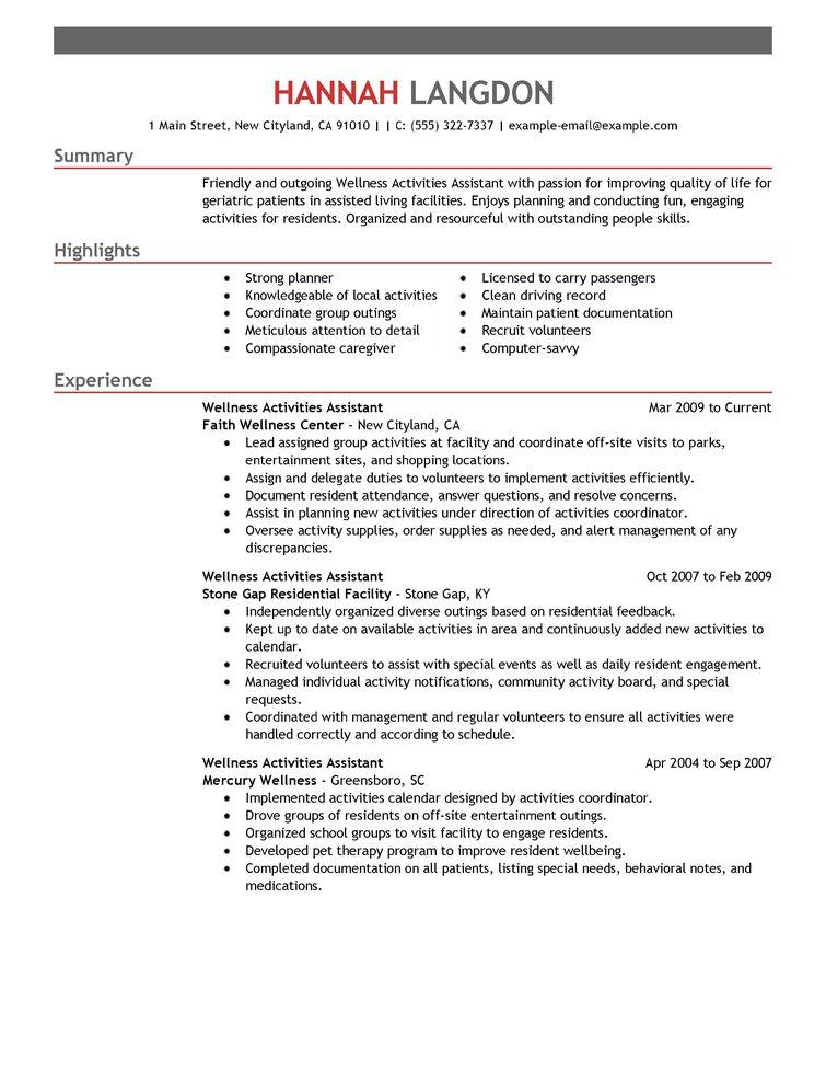 passion statement resume example