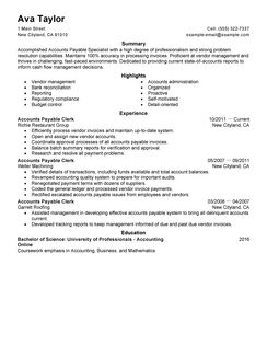Job Description Accounts Payable Specialist Best Accounts Payable Specialist Resume Example Livecareer
