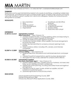 Sample Executive Secretary Resumes Secretary Resume Sample Resume For Secretary Best Administrative Assistant Resume Example Livecareer