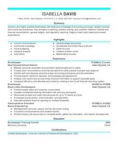 full charge bookkeeper cover letter sample company resume