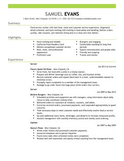 Waitress Resume Examples And Tips << Waitress Resume Best Resume Examples For Your Job Search Livecareer